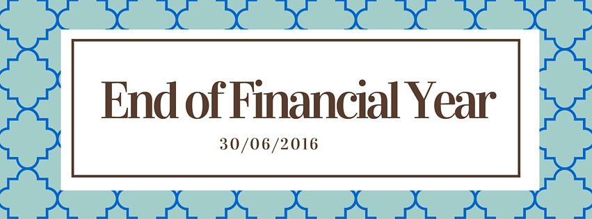 End of financial year 2016