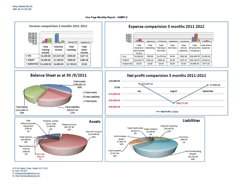 monthly financial reports for business